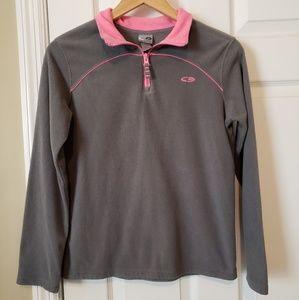 Champion Gray Pink 3/4 Zip Ladies Small/Medium